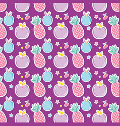 Punchy pastels pattern background cartoon vector