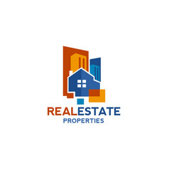real estate and building logo concept vector image
