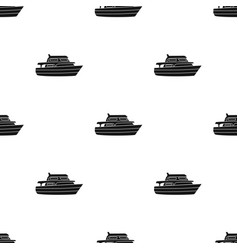 Recreational marine boatboat for a family holiday vector