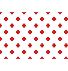 red four-leaf clover pattern for st patrick day vector image