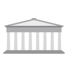 Roman pantheon flat vector