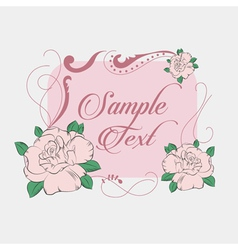 Rose on white background vector image