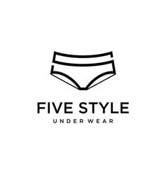 S o 5 mark underwear vector
