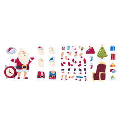 Santa claus animation kit cartoon new year vector