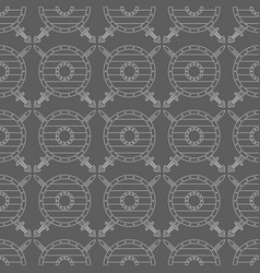 seamless pattern with viking shields and swords vector image