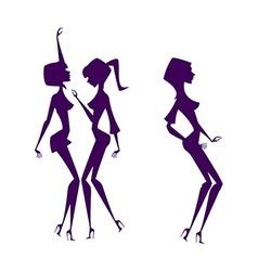 Shadow of women vector