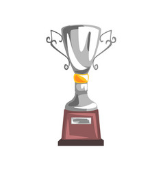 Silver champions cup goblet racing related vector