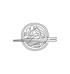Single continuous line drawing stylized hot vector
