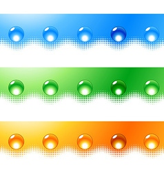 Site bars and buttons vector image