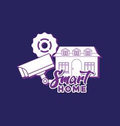 smart home design vector image