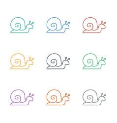 Snail icon white background vector