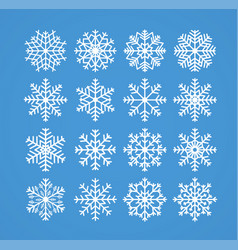 snowflakes winter christmas frosty snow line vector image