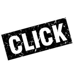 square grunge black click stamp vector image