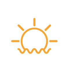 sun beach icon design template isolated vector image