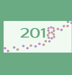 template for the dog year vector image