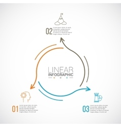 Thin line flat element for infographic vector