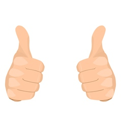 Two Thumbs Up vector image vector image