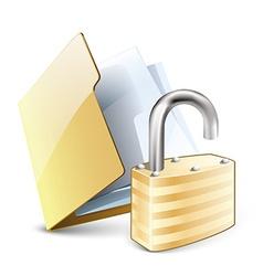 unlock folder vector image