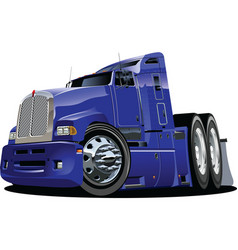 vector cartoon semi truck vector image