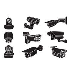 video surveillance camera - icon vector image