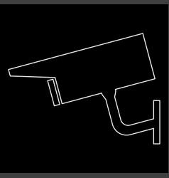 Video surveillance the white path icon vector