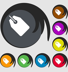Web stickers tags and banners icon symbols on vector