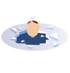 Winter swimming vector