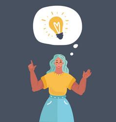 woman thinking got an idea vector image