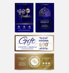 gift voucher design set vector image vector image