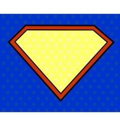 Super hero shield in pop art style vector