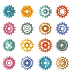 Various style color gears set vector image vector image