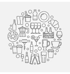 Cafe and bar circular vector image vector image