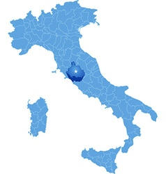 Map of Italy Genova Royalty Free Vector Image VectorStock