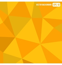 Orange triangle geometric abstract background vector