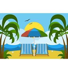palm beach vector image vector image