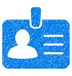 Person badge grainy texture icon vector