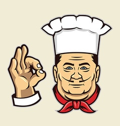 chef face vector image