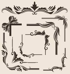 decorative-frame-set vector image vector image