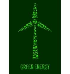 Green energy eco environment poster vector