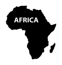 map of Africa on white background vector image