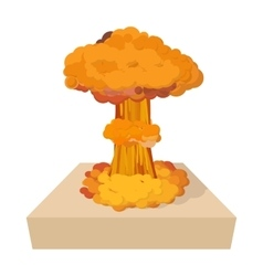Nuclear explosion icon cartoon style vector image vector image