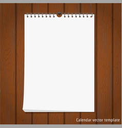 Wall Calendar mock up vector image