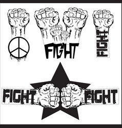 fighting vector image