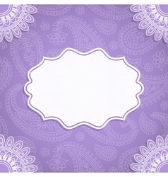 Frame in Indian style vector image vector image