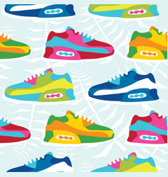 Hand drawn cartoon style hipster sneaker shoes vector