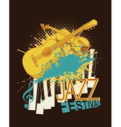 Jazz music festival poster vector image