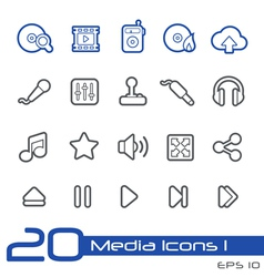 Media Entertainment Outline Series vector image