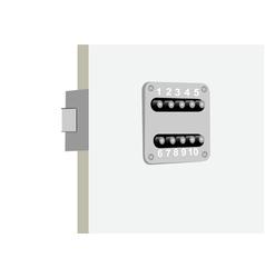 security door vector image vector image
