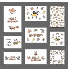 Set of greeting card templates vector image
