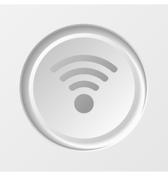 WiFi Button vector image vector image